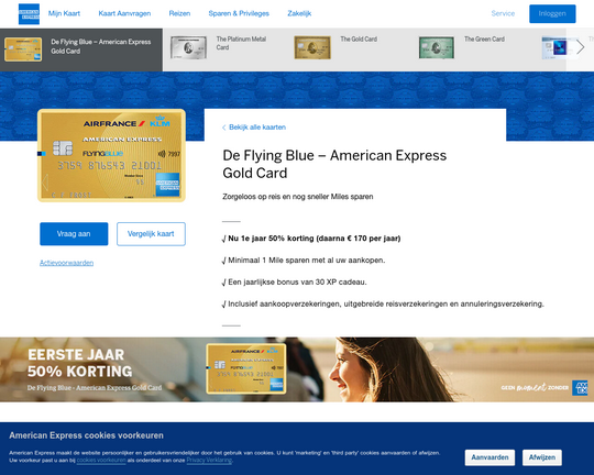 American Express Flying Blue Gold Card Logo