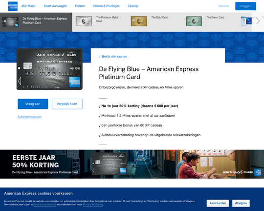 American Express Flying Blue Platinum Card Logo