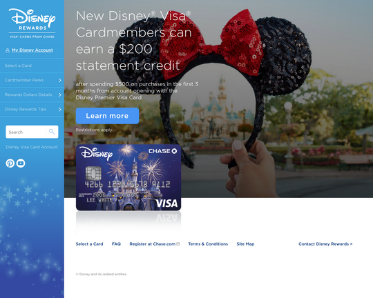 Disney Visa Credit Card Logo