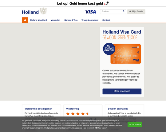 Holland Visa Card Logo
