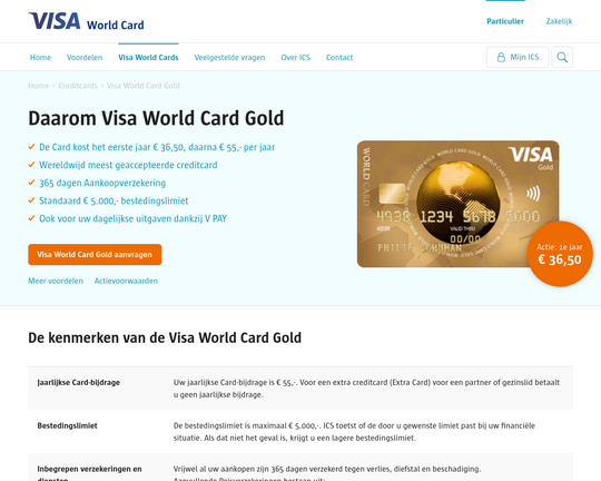 Visa World Card Gold Logo